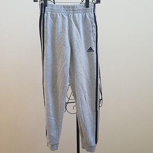 Boy's Adidas gray jogger pants